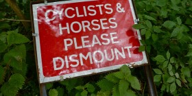 Horses should dismount too?