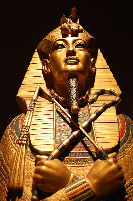 The Sarcophagus of the child Pharaoh Tutankhamen. Photo by Tiffany Silva.