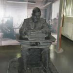 Alan Turing sculpture at Bletchley Park, Photo by Steve Nimmons