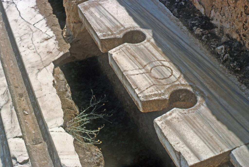 Roman toilet seats