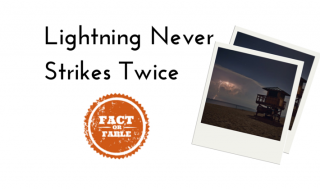 Does lightning strike twice?