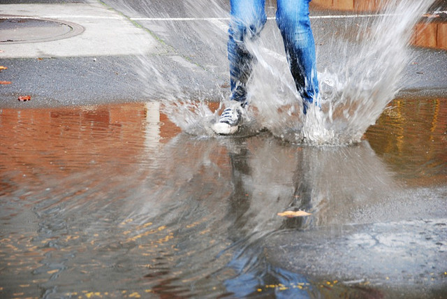 Never too old to jump in puddles