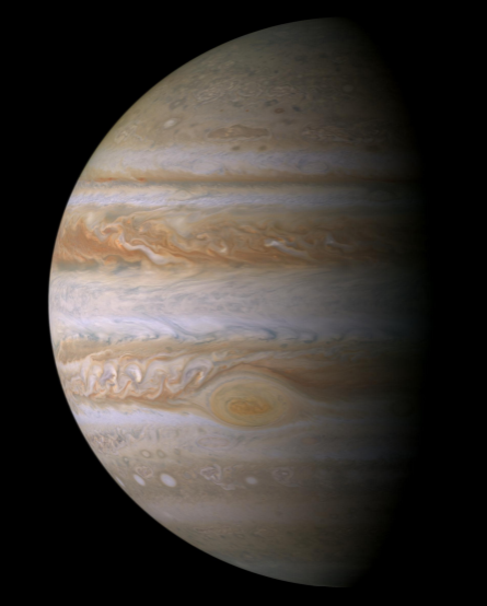Jupiter. The Great Red Spot is clearly visible. (Image: NASA).